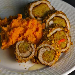 Mambo Pork Rolls  with Sweet Potatoes