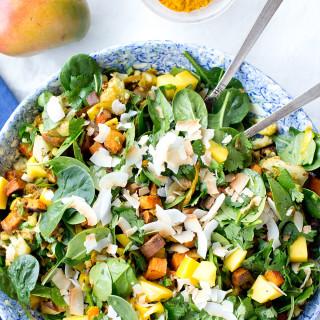Mango and Curried Sweet Potato Salad