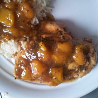 Mango-Mustard Glazed Chicken