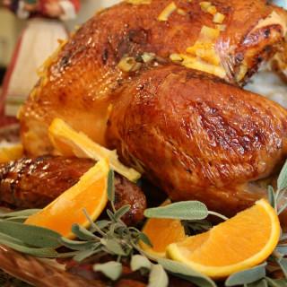 Marmalade Glazed Turkey with Giblet Gravy