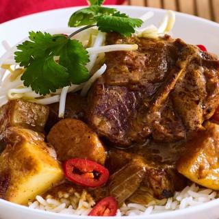 Massaman lamb chop and potato curry