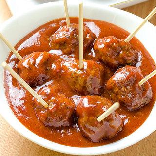 Meatballs with Homemade BBQ Sauce Recipe