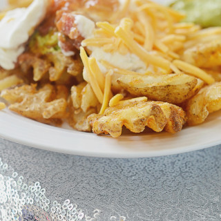 Mexican Five Layer Dip Waffle Fries