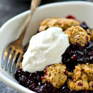 Mixed Berry Cobbler with Oat Biscuits