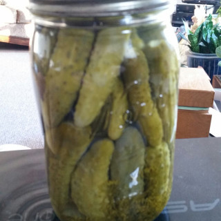 Mom's Dill Pickles (Cooked)