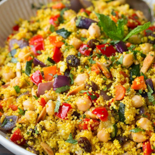 Moroccan Couscous Recipe (with Roasted Veggies)