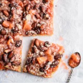 Nectarine and Almond Pie Bars