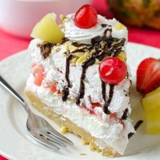 No Bake Banana Split Cheesecake Recipe