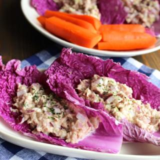 No-Mayo Tuna Salad Cabbage Wraps
