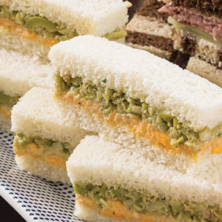 Olive and English Cheddar Tea Sandwiches