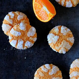 Orange Crinkle Cookies