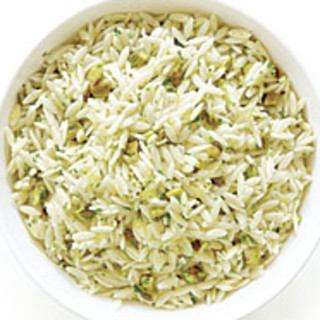 Orzo with Pistachios and Lemon