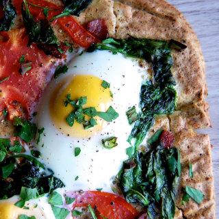 Paleo Pizza Crust & Breakfast Pizza