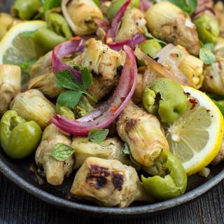 Pan-Fried Artichoke Heart Salad Recipe – Garden & Gun