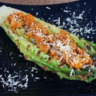 Pan Grilled Caesar Salad (deconstructed)