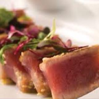 Pan-Seared Tuna with Onion-Soy Vinaigrette