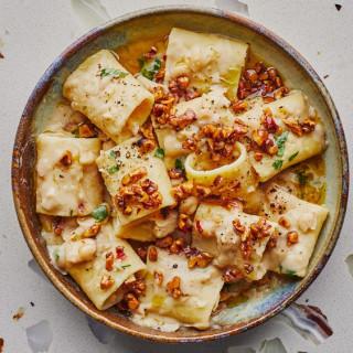 Pantry Pasta With Vegan Cream Sauce