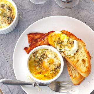 Parmesan Baked Eggs