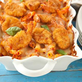 Parmesan Shrimp Ziti Bake