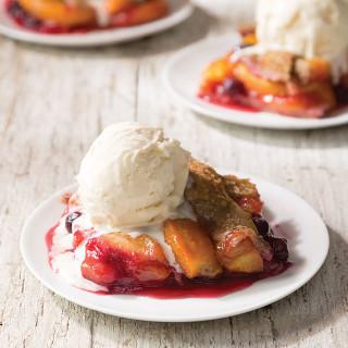 Peach and Blueberry Buckwheat Sonker