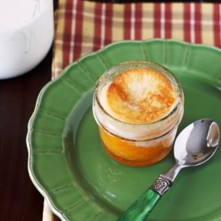 Peach Cobbler in a Mason Jar