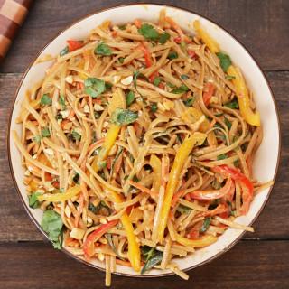 Peanut Noodle Pasta Salad Recipe by Tasty