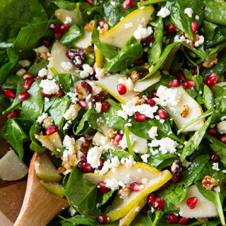 Pear, Pomegranate and Spinach Salad