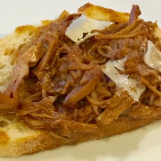 Pecorino Pork Bruschetta