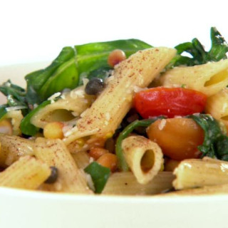 Penne with Brown Butter, Arugula, and Pine Nuts