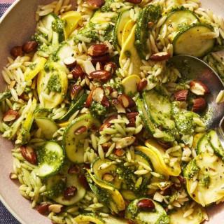 Pesto Zucchini Orzo