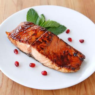 Pomegranate Molasses Salmon