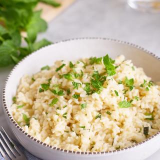 Portuguese-Style Mint Rice