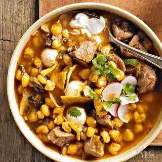 Pozole (Pork and Hominy Stew)