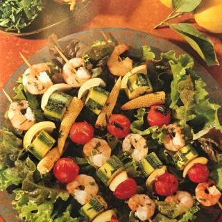 Prawn and Vegetable Kebabs