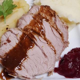 Pressure Cooker Balsamic Spiced Apple Pork Tenderloin