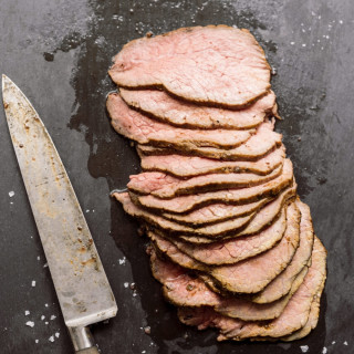 Prune, Peppercorn Roast Beef