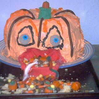 Puking Pumpkin Cake