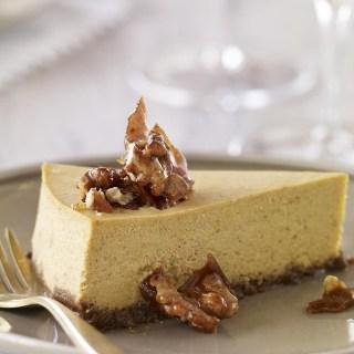 Pumpkin Cheesecake with Gingersnap-Walnut Crust