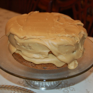 Quick and Deeelish Jam Cake With Caramel Frosting
