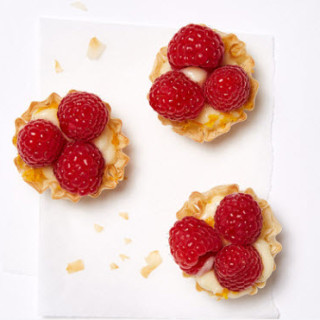 Raspberry, Orange, and Cream Tartlets