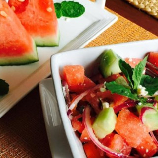 Refreshing Cucumber Watermelon Salad Recipe