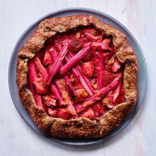 Rhubarb-Strawberry Galette