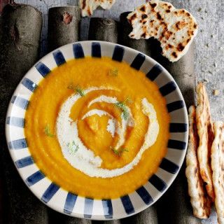 Roast carrot and fennel soup
