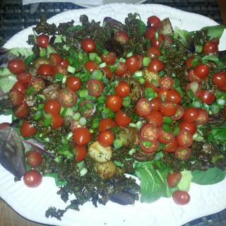 Roast Kale and Potato Salad