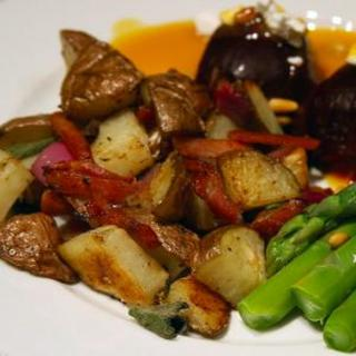 Roasted Potatoes with Bacon, Onions, and Sage