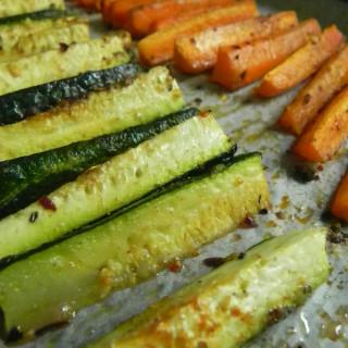 Roasted Zucchini Spears