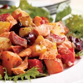 Salmon and Roasted Vegetable Salad