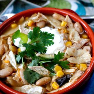 Salsa Verde Chicken Tortilla Soup