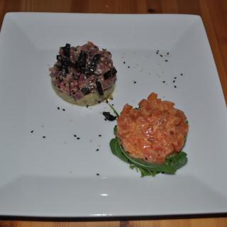 SauThon tartare (Salmon & Tuna tartare)