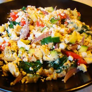 Screambled Eggs & Veggies